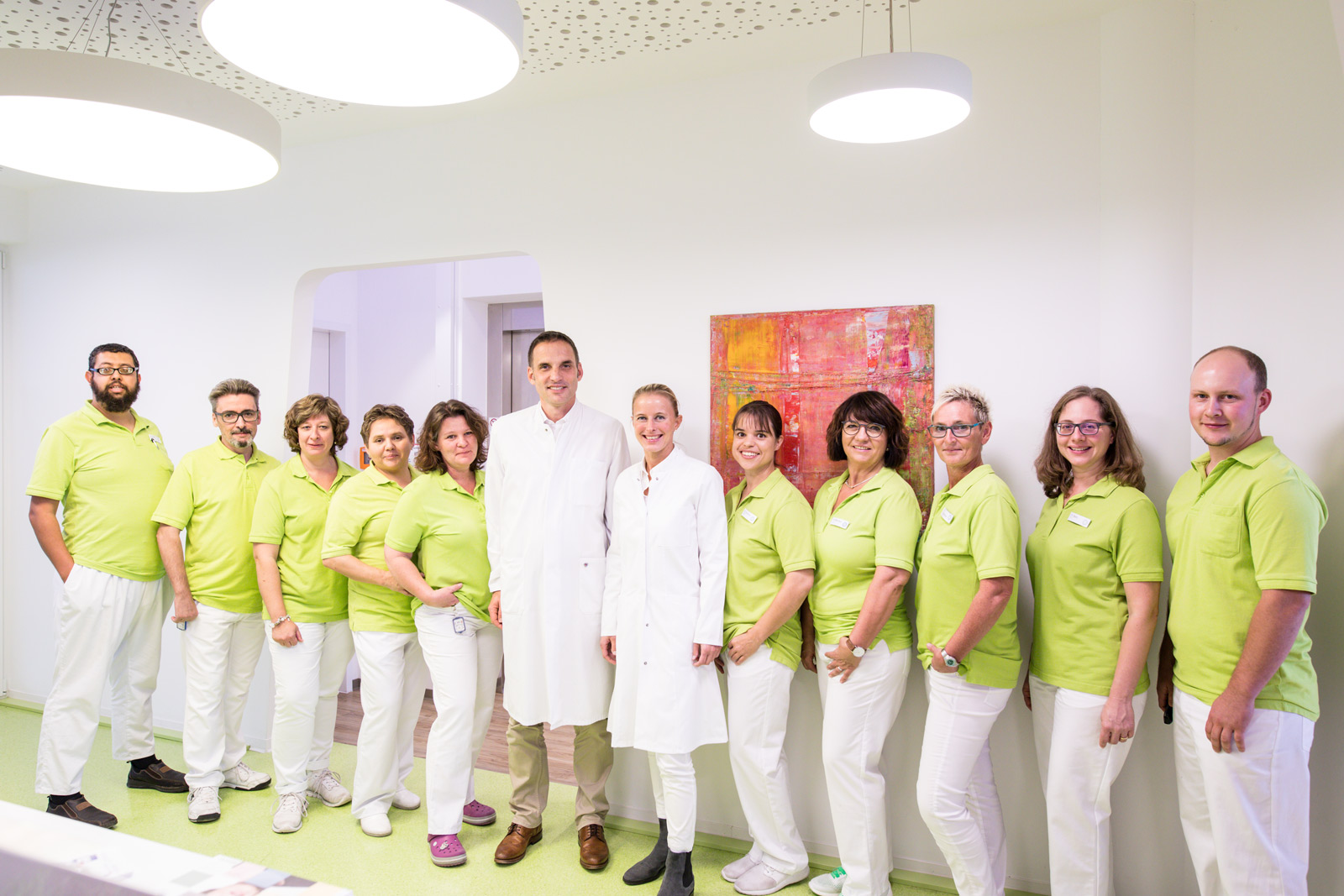 Teamfoto Arztpraxis Strahlentherapie Dr. Staab